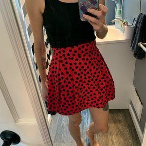 Hot pink heart mini skirt